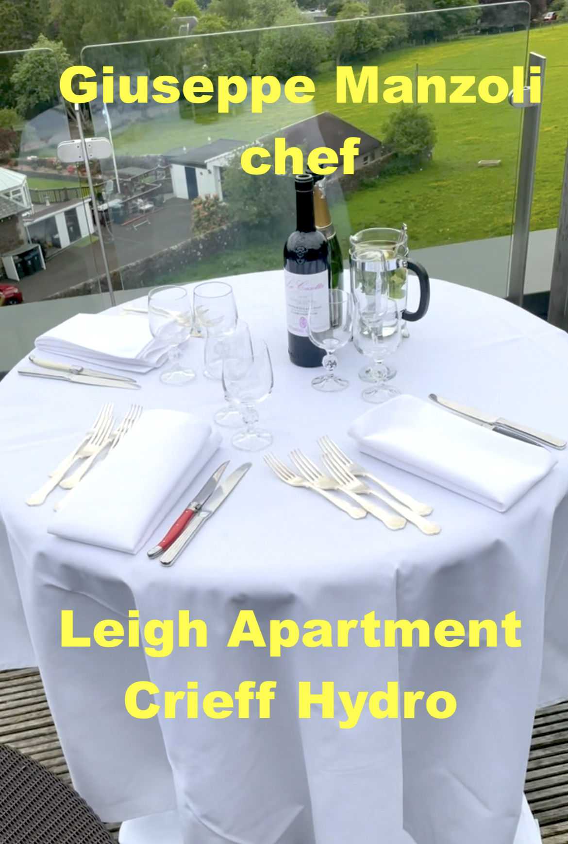 Table set | private dinner | Crieff Hydro